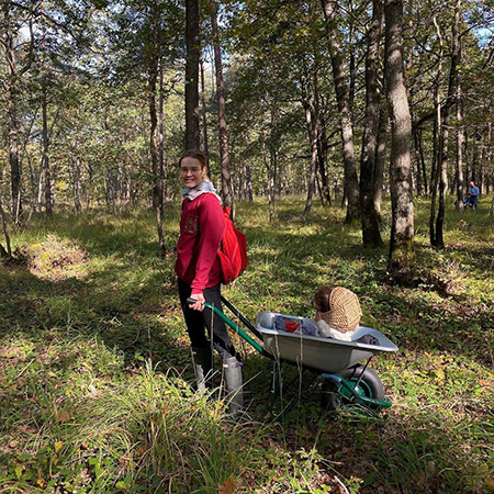 Наталья Водянова сходила за грибами в лес